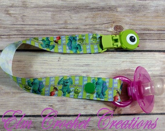 Monsters Inc Monsters University Mike Wazowski Tsum Tsum Deluxe Pacifier Clip - ABDL/DDLG/Age Play - Ready to Ship!