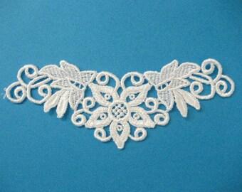 White Lace Applique, Venise Lace Motif, Tutu Decoration, White Lace Trim, Dance Costume Embellishment, #51