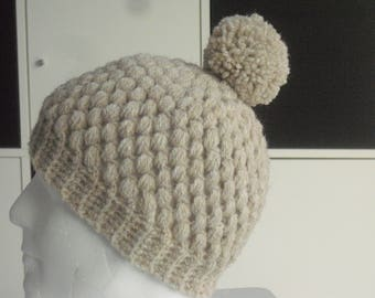 Cap KU 52-60 cm - Beanie - Bobble Hat - crochet Hat - wool hat - ladies Cap - Mr Cap - Hat - head gear
