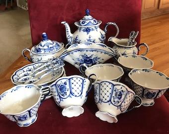 Russian porcelain tea set.