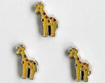 99 CENT SALE Giraffe Floating Charm for Glass Memory Locket FC45 - 1 Charm