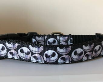 Jack Skellington 1 inch Dog Collar