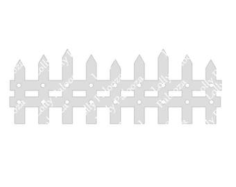 Long Fence Digital File.  Instant Download. PNG, SVG, Studio Files. *Read description*