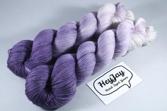 Hand Dyed Sock Yarn Superwash Merino/Nylon - Parma Violet