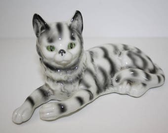 Grafenthal cat, cat figurine, porcelain cat figurine, animal figurine, cat collectable, Early Grafenthal, Carl Scheidig, 1920's Grafenthal