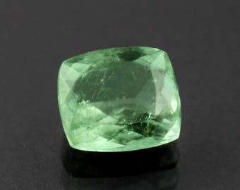 5.24 cts Natural Tourmaline Grape Green Cushion shape loose gemstone Free Shipping
