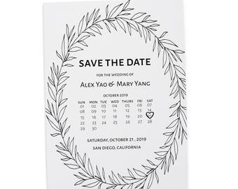 Rustic Save the Date Wedding Cards Printable, Save the Date Cards, Personalized Save the Date Cards #36