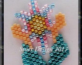 Healing Hands 1 - Brick Stitch Beaded Earrings Pattern