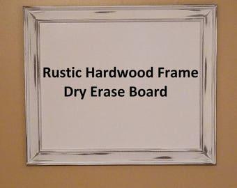 Rustic Hardwood Frame Dry Erase Board