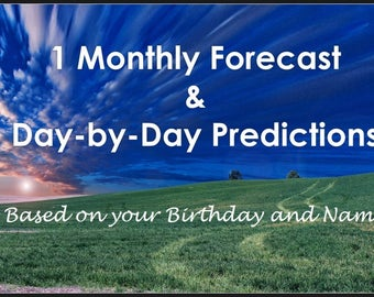 1 Month Forecast  - Monthly and Day-by-Day Horoscope Personal Reading