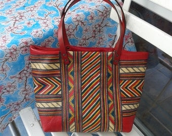 Small leather Tote Bag #1