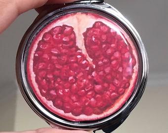 Pomegranate Compact Mirror