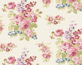 Anne of Green Gables Floral Cream - Riley Blake Designs - Penny Rose Fabrics -Flowers -Quilting Cotton Fabric - choose your cut
