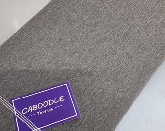 Dark Grey Flecked French Terry  - Quality 4 way stretch 290gsm