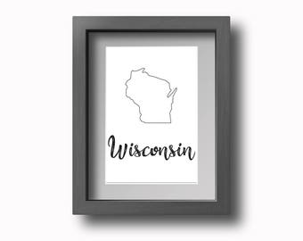PRINTABLE Wisconsin Wall Art!