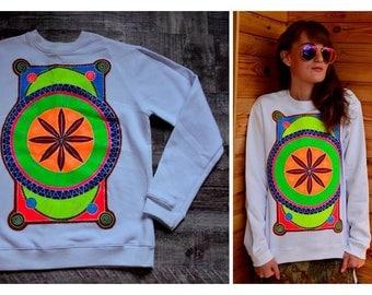 "Hand-painted sweatshirt ""Mandala"""