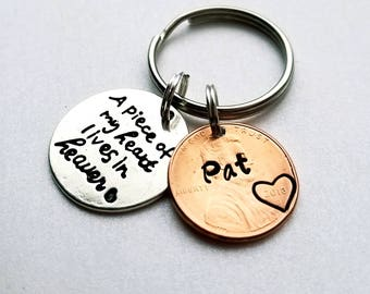 Custom Penny From Heaven Memorial Keychain. Memorial Gift, Heaven Penny, Grief gift, Lucky Penny, Rememberance,  Grandma, Dad, Mom, Sister