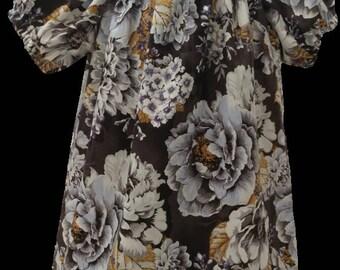 Flower Print Peasant Dress