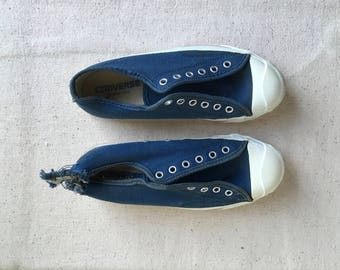 vintage converse low top tennis jack purcell blue canvas sneakers made in usa shoe
