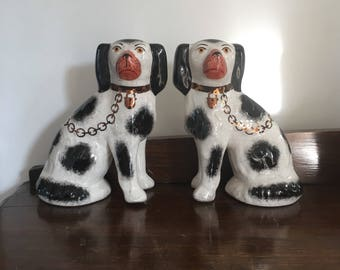 Mid Century Pair Of Dogs