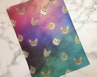 Space Cats  - A4 VELLUM sheet, TN vellum, Dashboards