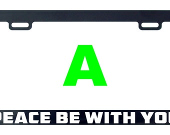 Peace be with you license plate frame tag holder decal sticker