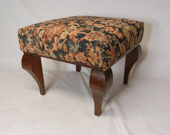 Rustic Antique Rug Ottoman
