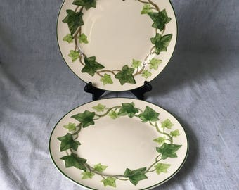 Vintage Franciscan Ivy Dinner Plates, Set of 2