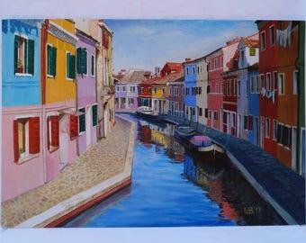 Original oil painting Italy Murano oil painting painting for sale original painting fine art home decor wall decor oil on canvas art