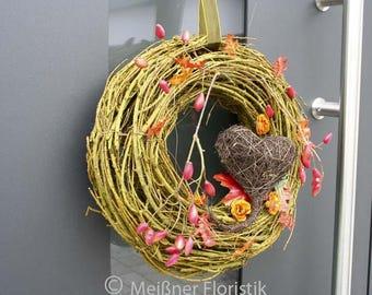 """Door wreath """"warm autumn"""""""
