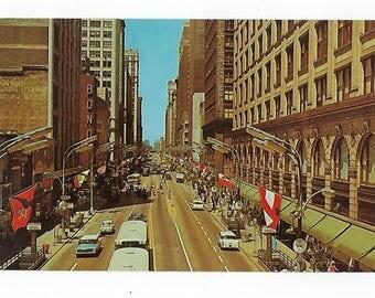 Vintage Postcard, State Street, Chicago, Illinois, Ephemera