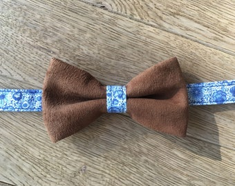 Bow tie brown leather - Delft