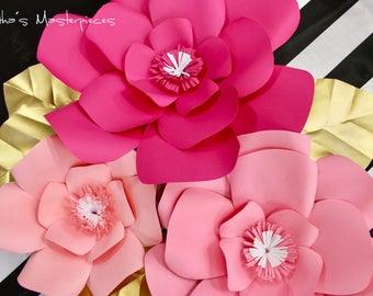 Paper Flower set of 3