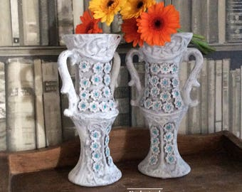 Candle holder/candle holder ceramic/candle holder centrepiece/pair of candle holders/candlesticks/hand painted