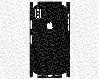 Iphone 10 X Skin template for cutting or machining - Digital Download - For plotters, CNCs, Laser cutters, Silhouette Cameo, Cricut, etc