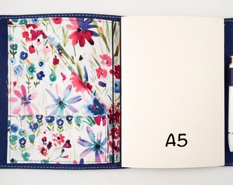 CUSTOM A5, No. 8, No. 9, Composition Fabric Inserts/Foxy Fix /Travelers Notebook/Chic Sparrow/Midori/Fauxdori