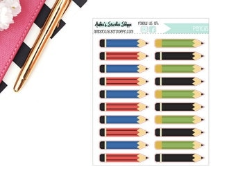 Schol Multicolored Pencils Planner Stickers
