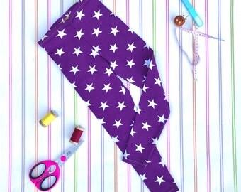 Organic leggings, purple leggings, Christmas leggings, unisex leggings, gift, gifts for kids, Christmas gift, unisex pants, kids clothes