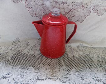 Vintage - Small Enamelware Coffee Pot