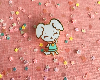 Tiny Puppy Hard Enamel Pin - Standard (A) Grade