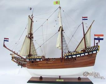 Duyfken Wooden Ship Model ready for display