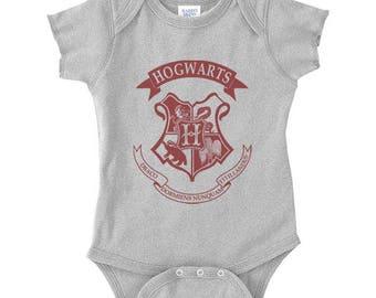 Hgwrts Crest on Infant Baby Rib Lap Shoulder Creeper Onesie