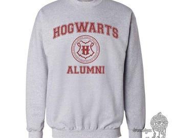 Hgwrts Alumni #2 Maroon print on Crew neck Sweatshirt