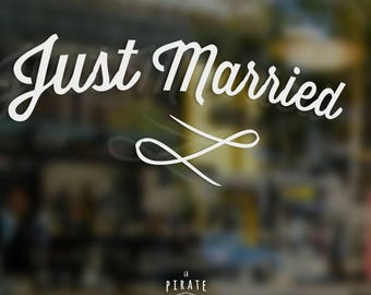Just Married wedding car stickers to decorate the vehicle of groom