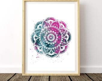 Bohemian Bedroom Wall Art, Boho Girl Wall Decor, Yoga Gift Art, Gift For Yogis, Wall Hanging Mandala, Top Selling Shops, Yoga Wall Art