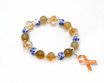 Kidney Cancer Jewelry - Kidney Cancer Bracelet - Kidney Cancer Gift - Kidney Cancer Awareness - Kidney Cancer - Kidney Cancer Survivor
