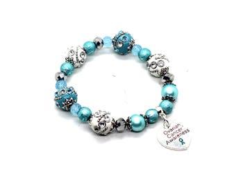 Ovarian Cancer Bracelet - Ovarian Cancer Awareness - FPIES Bracelet - FPIES Awareness - PTSD Awareness - Ptsd Jewelry - Ocd Awareness - Ocd