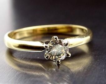solitaire engagement ring, solitaire diamond ring gold, solitaire diamond engagement ring 14k gold, minimalist diamond ring anniversary gift