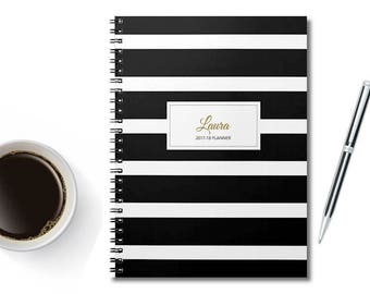 2018 Planner - Personalized Planner - 2018 Weekly Planner - 2018 agenda - Academic Diary - Student Planner -  2018 calendar - 2018 diary