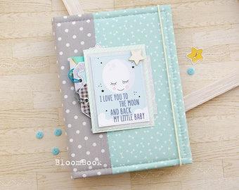 Baby Book Boy, Baby Memory Book Boy, Baby Album, Baby Shower Gift, Newborn Gift, Scrapbook Album, Baby 1st Book, Baby Scrapbook, Baby Gift